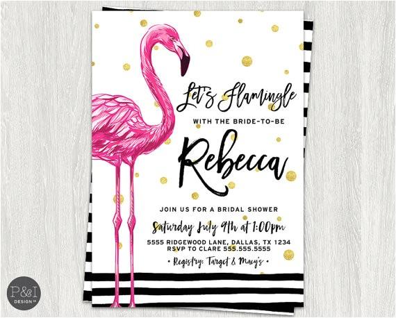 lets flamingle flamingo bridal shower