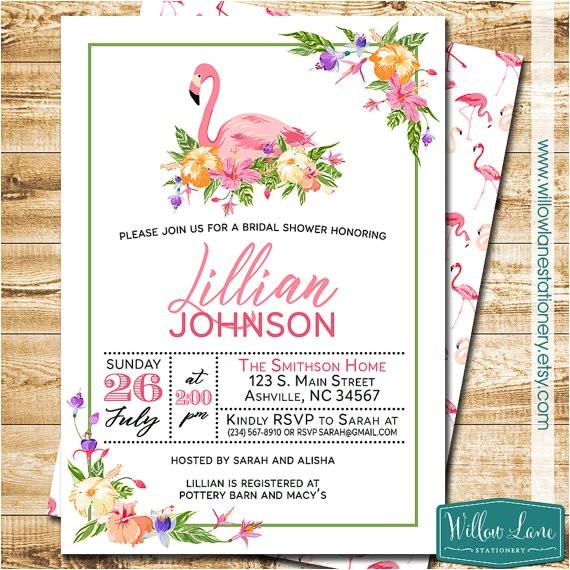 tropical flamingo bridal shower