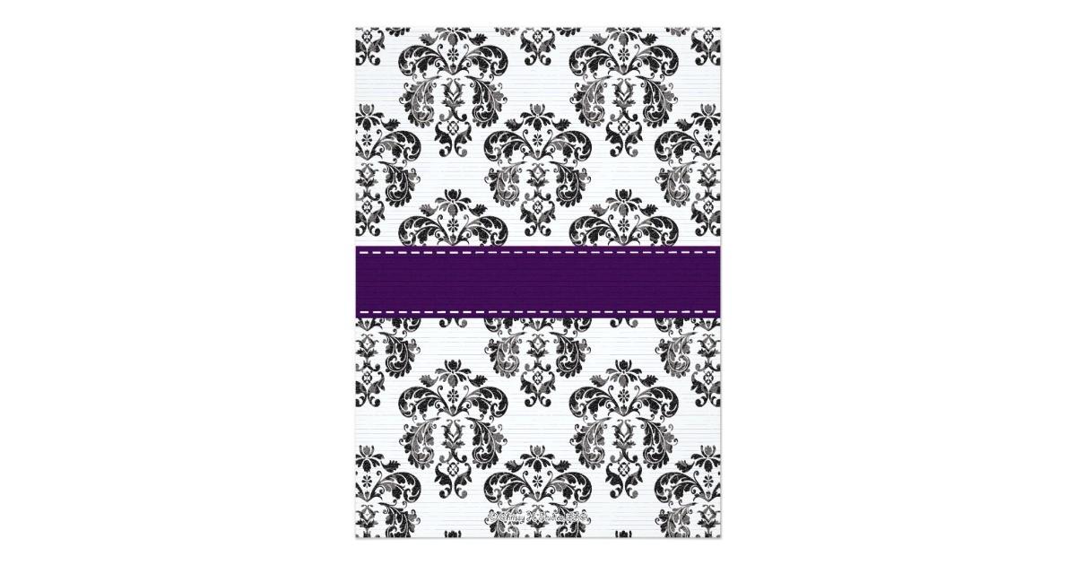 fleur de lis bridal shower invitations plum black 161742067263799112