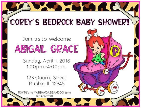flintstones pebbles bedrock baby shower