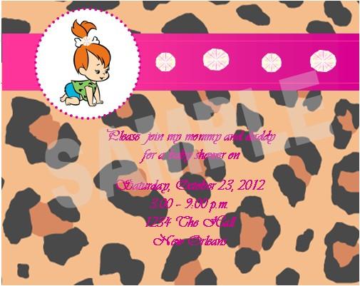 pebbles flintstone invitations