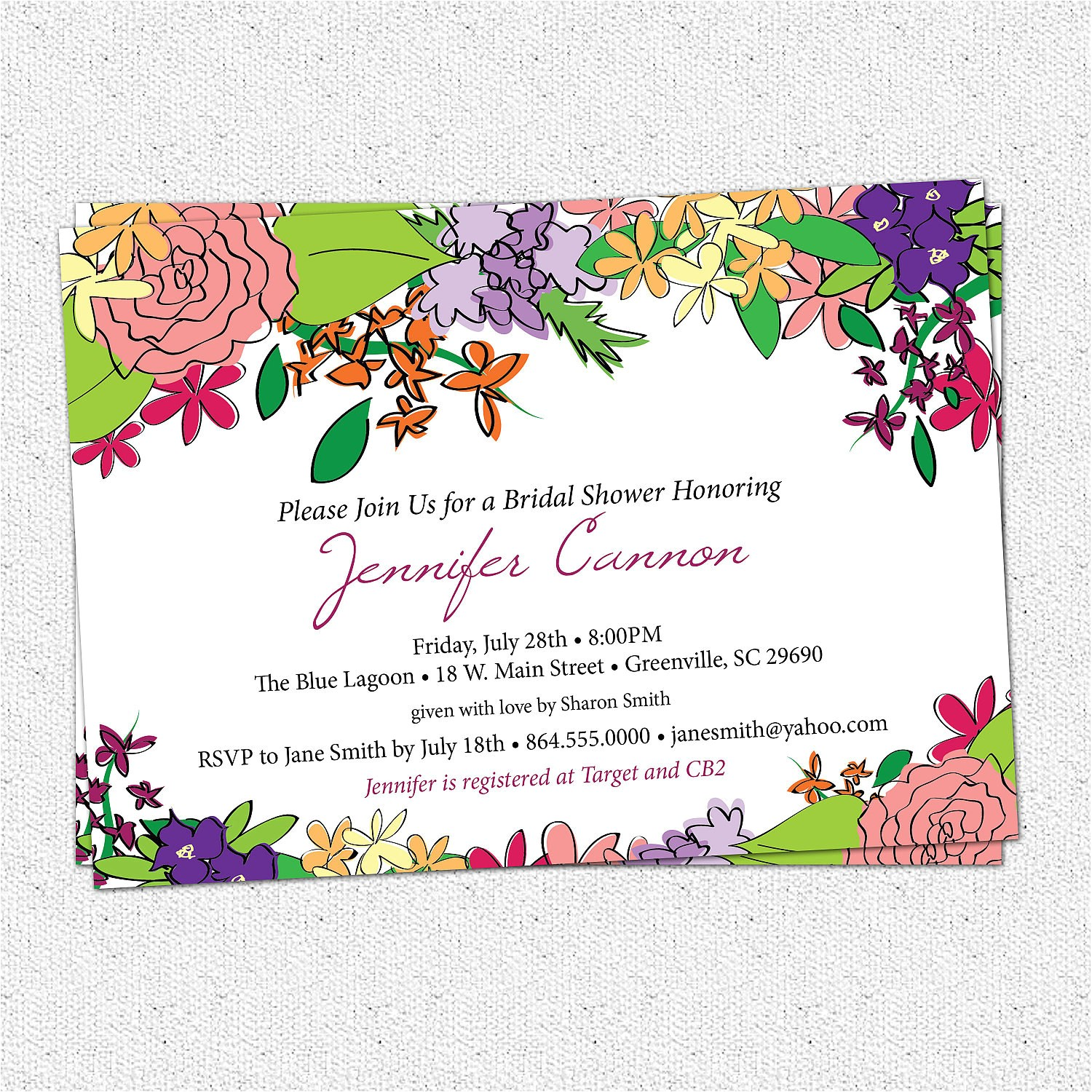 bridal shower invitation printable