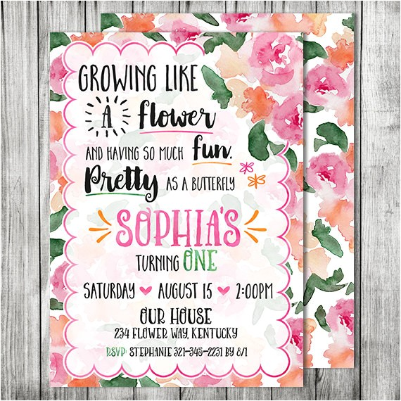 butterfly flower garden birthday party