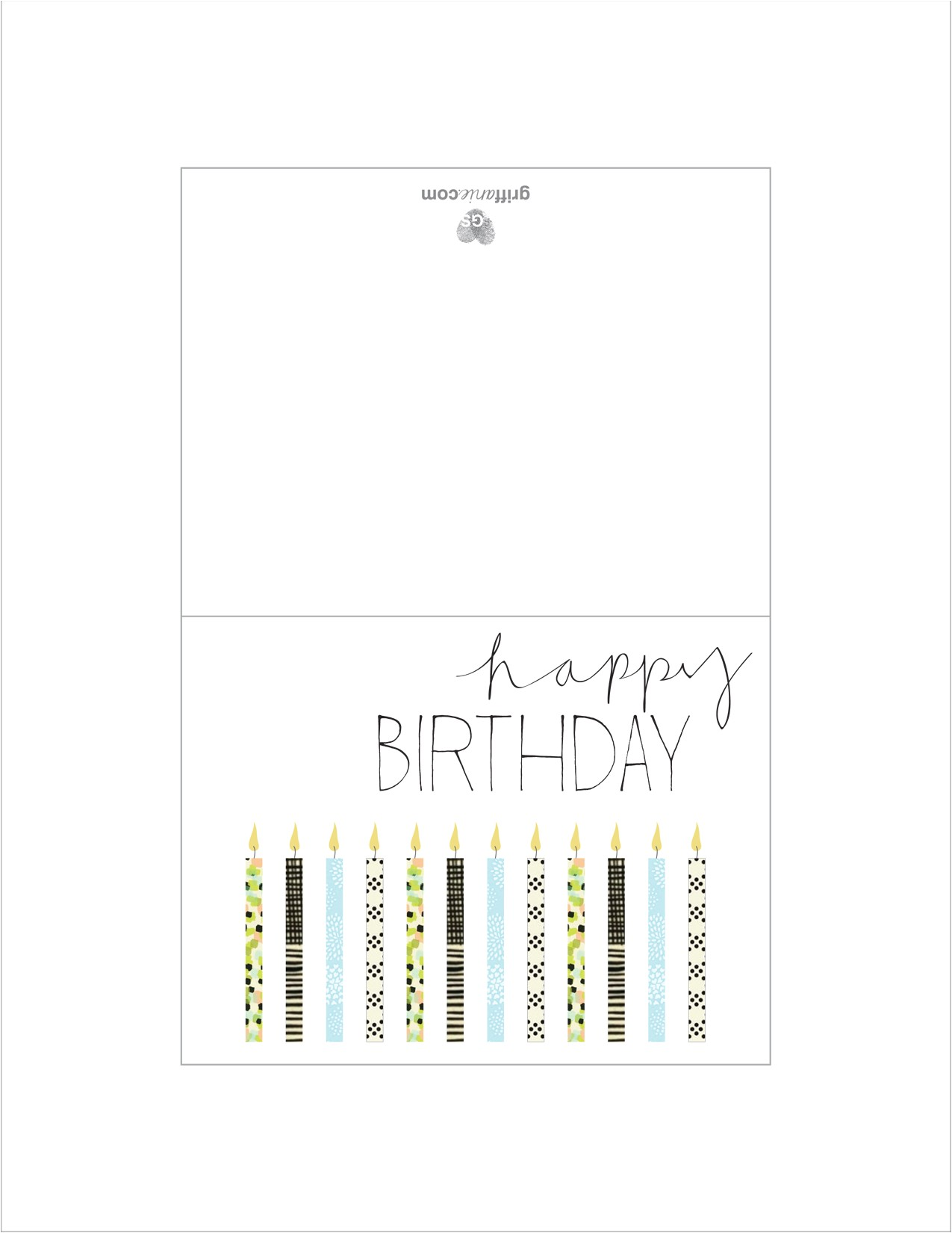 post printable folding birthday cards to color