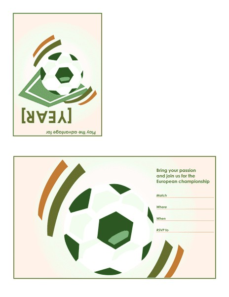 soccer party invitation quarterfold 566