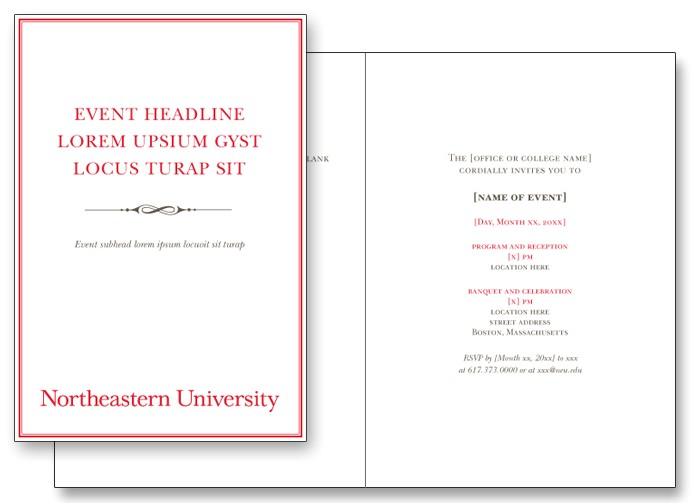 foldable invitation template