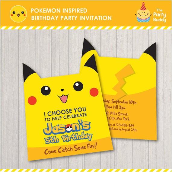 pokemon inspired birthday party