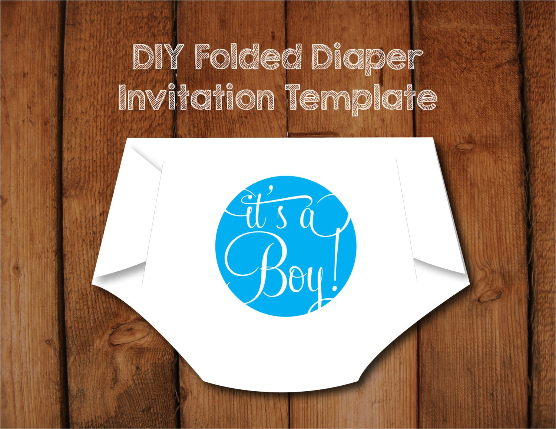 diy folded diaper baby shower invitation