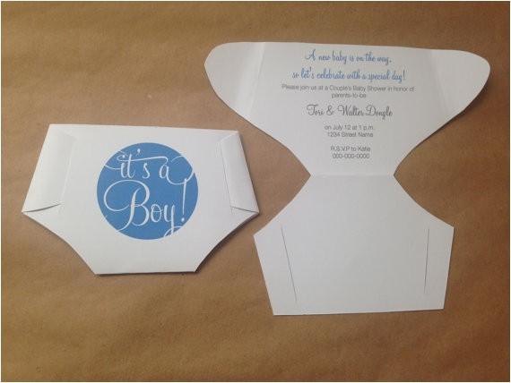 Folded Baby Shower Invitations Folded Diaper Baby Shower Invitations Template with Diy