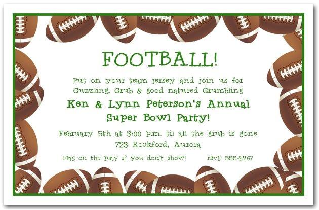 football banquet invitation templates