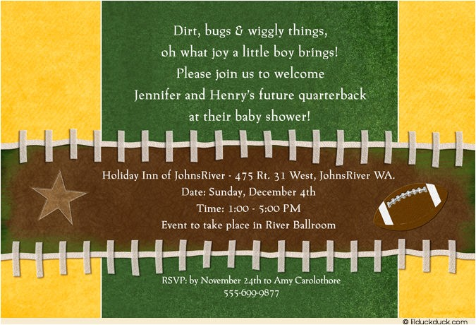 football birthday party invitation wording