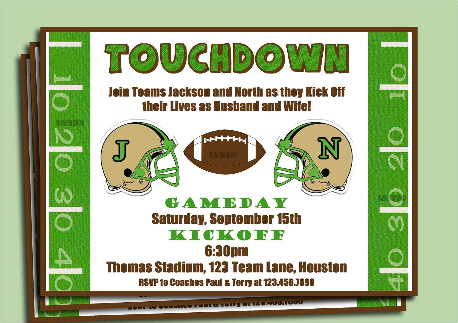 football couples shower engagement party