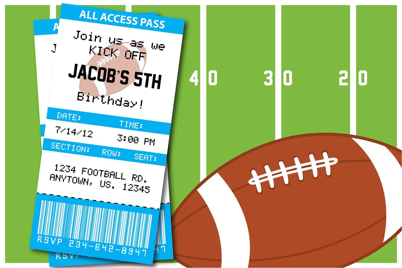 invitation football party