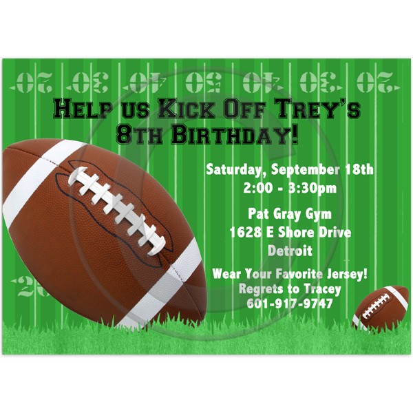 11 fearsome football birthday party invitations