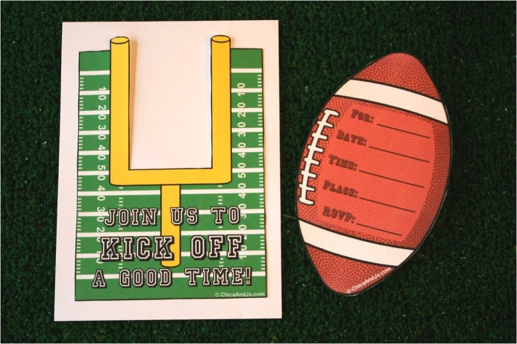 football birthday party invitation template