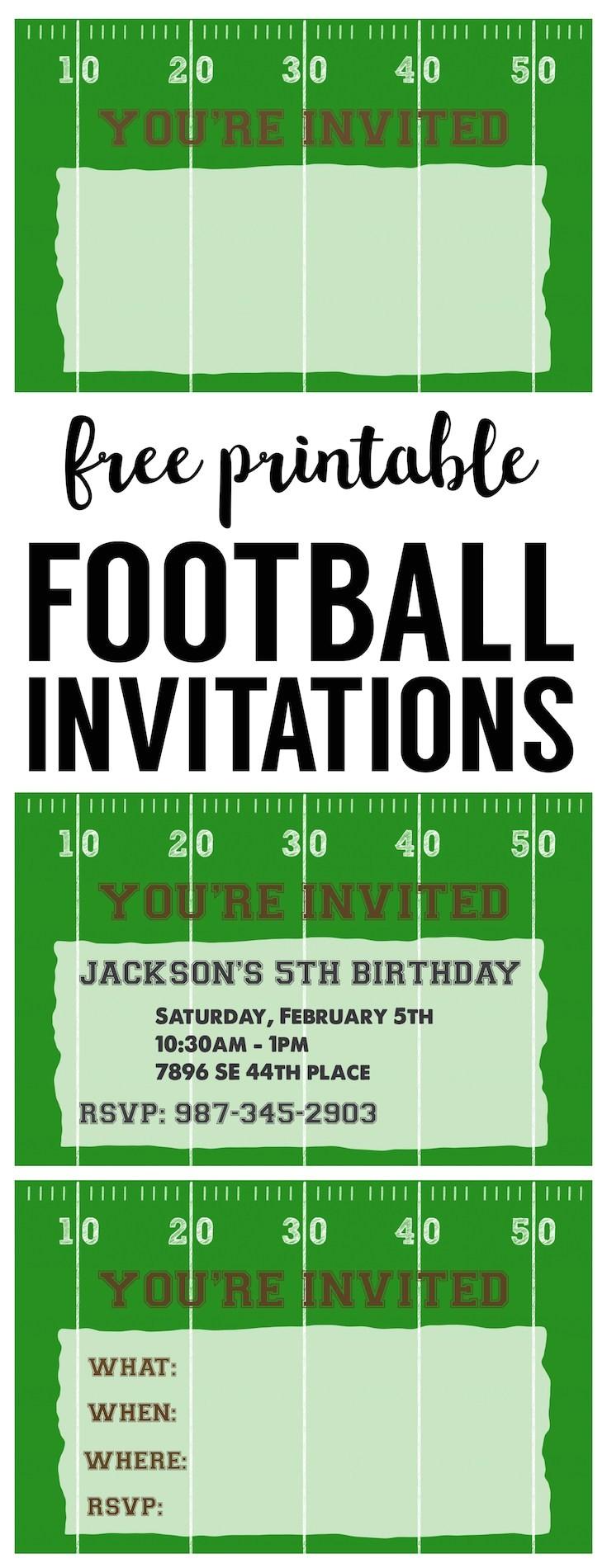 Football Party Invitations Templates Free Football Party Invitation Template Free Printable