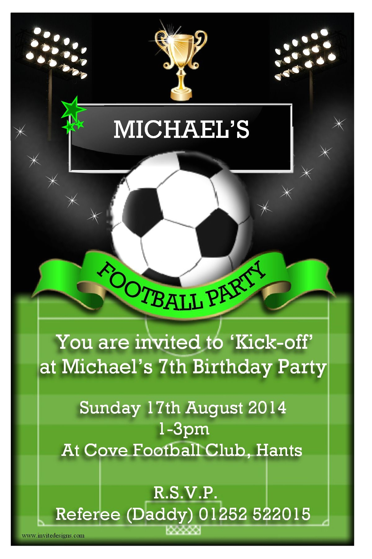 football party invitations