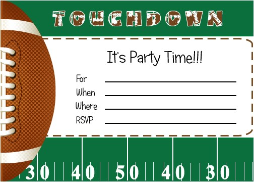 free football party printables from by invitation only