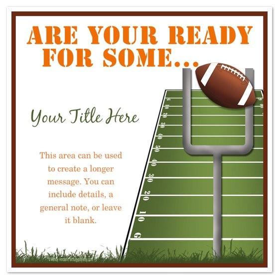 football tailgate invitation templates