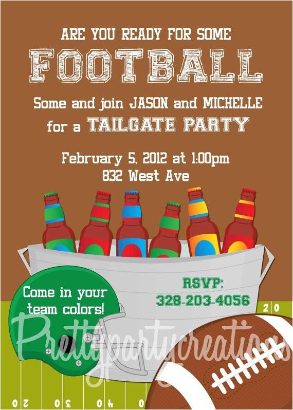 football tailgate invitations