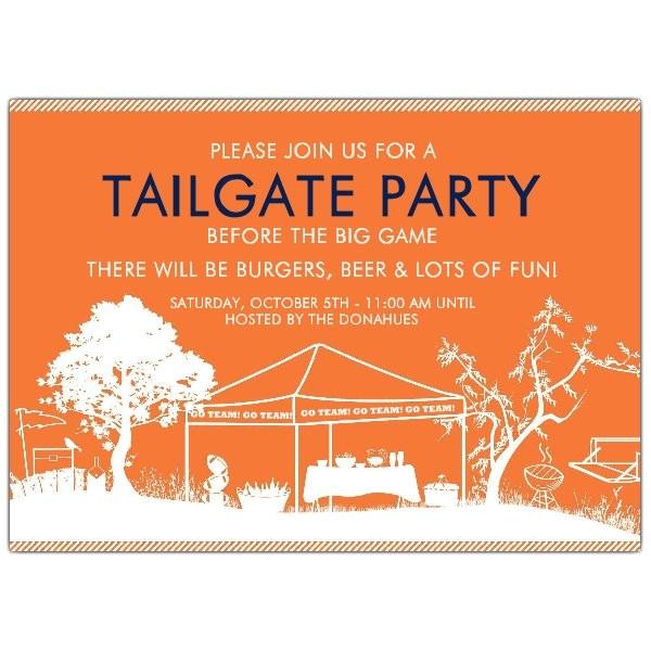 Tailgate Party Go Dawgs UGA Invitations p 616 75 005