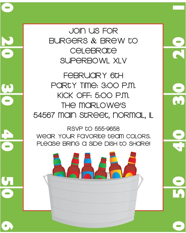 tailgate party invitation wording