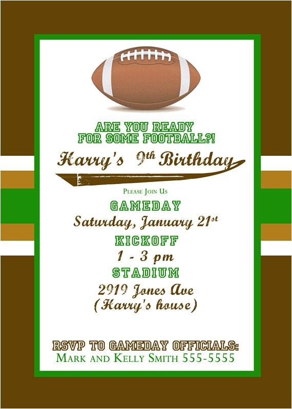 football themed birthday party