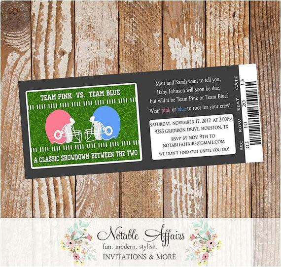 football themed ticket invitation perfect gender