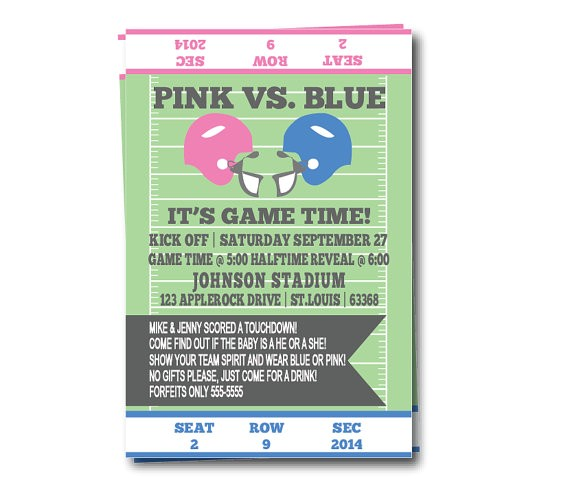gender reveal party invitation football
