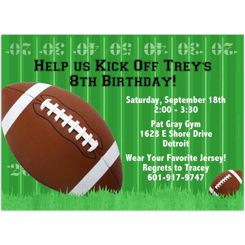 8 5x11 super bowl xlviii football printable invitations