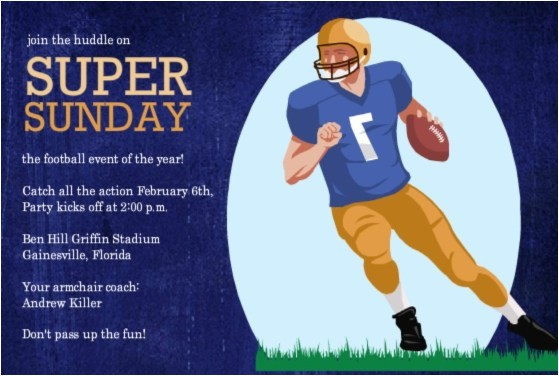 football invitations its game day