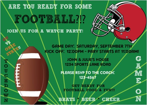 printable superbowl football game watch party