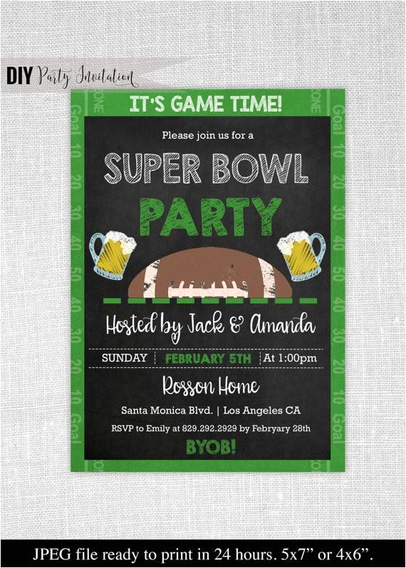 super bowl invitation chalkboard super