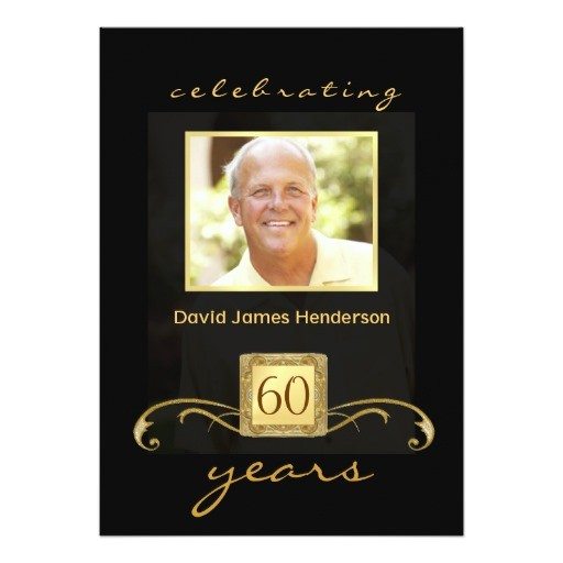 60th birthday party invitations formal for men