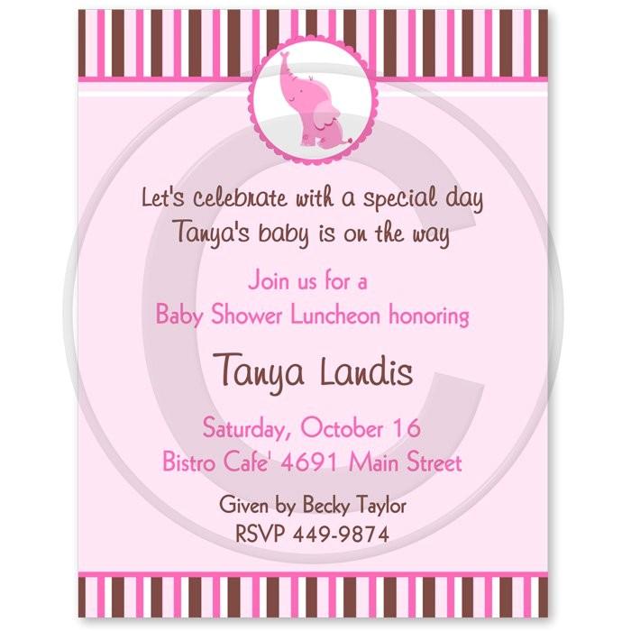 formal baby shower invitations wording