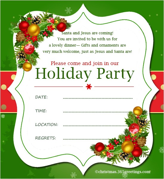 Formal Christmas Party Invitation Templates Christmas Invitation Template and Wording Ideas