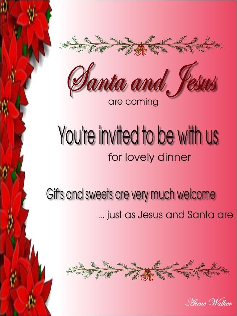 christmas invitation wording