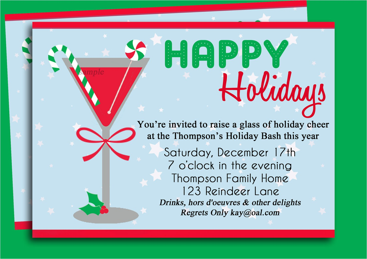 christmas party invitation ideas template