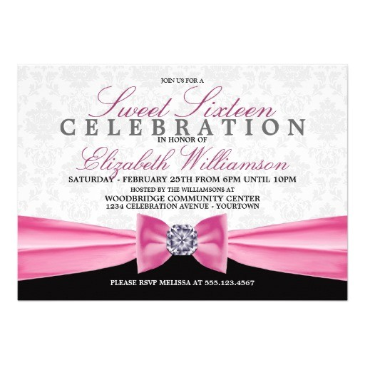 blush pink formal elegant sweet 16 invitation 161014884884650260