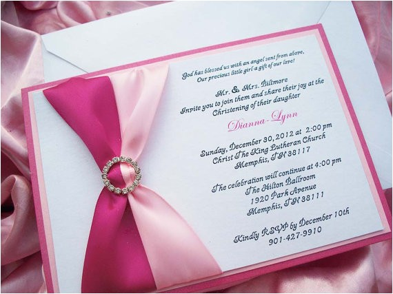 formal baby girl baptism invitation baby