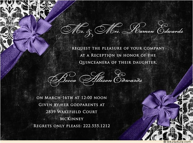 formal birthday invitation