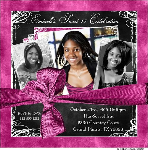 formal photo quinceanera invitation