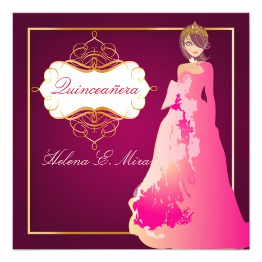 Formal Quinceanera Invitations formal Quinceanera Quince Anos Princess 5 25×5 25 Square