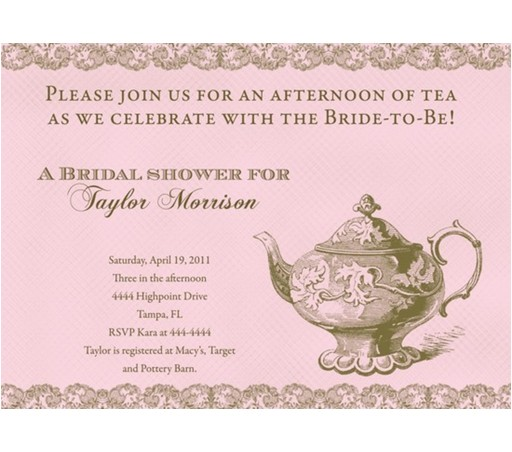 formal bridal shower invitation wording