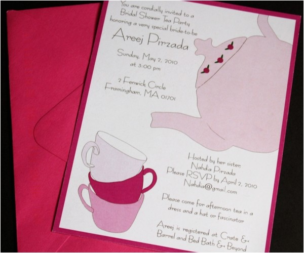 formal invitation wording for high tea
