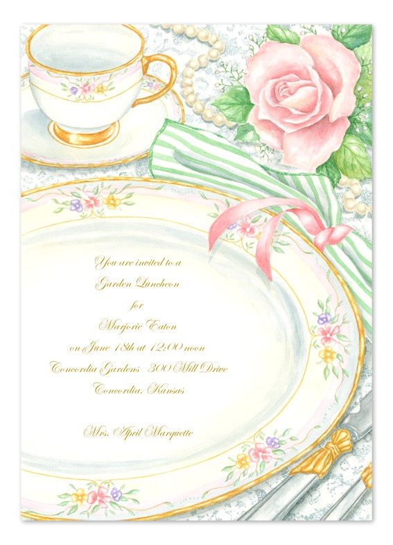 invitation wording high tea