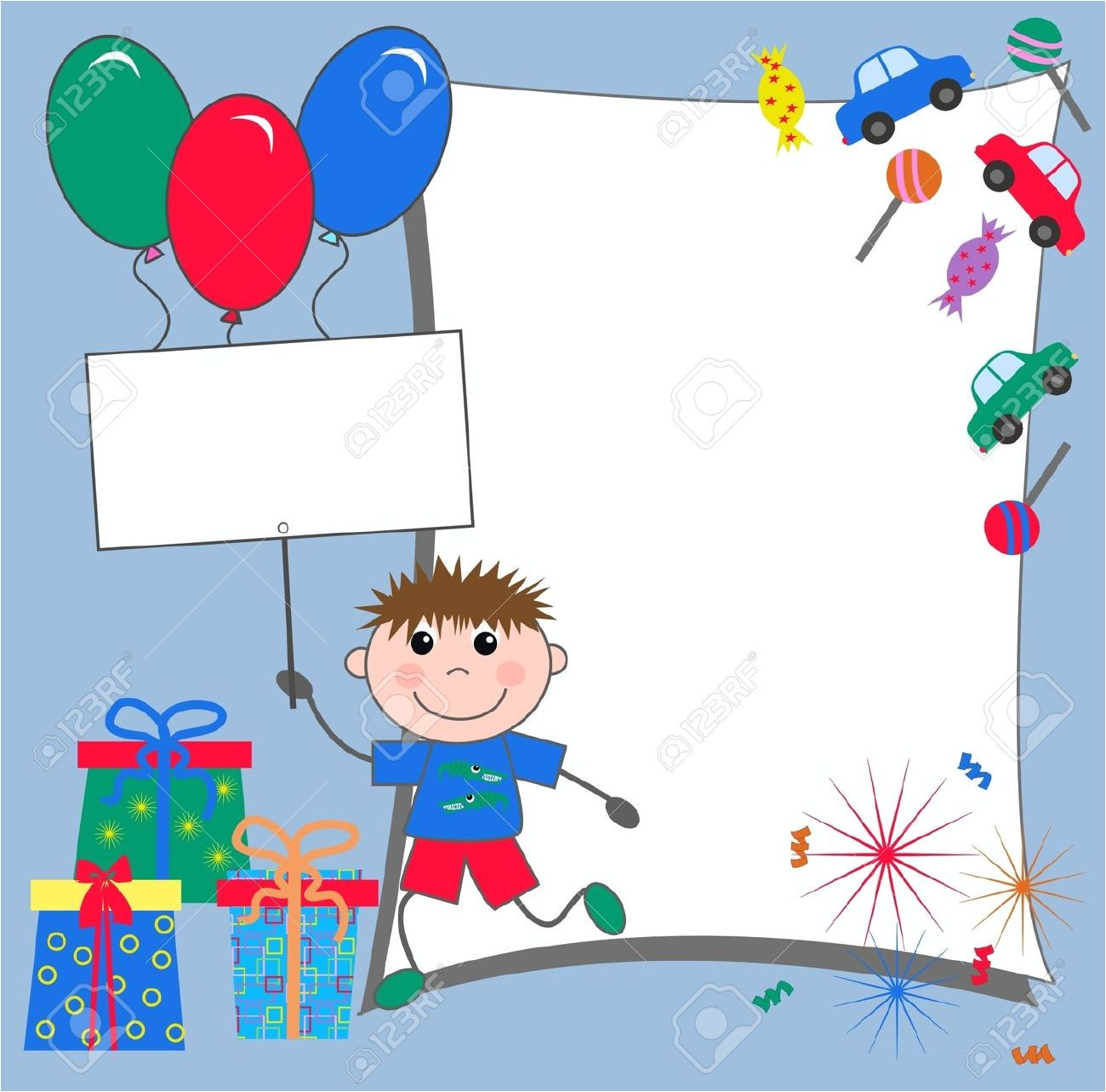 birthday invitation frames birthday frame with 3d transparent birthday balloons scroll