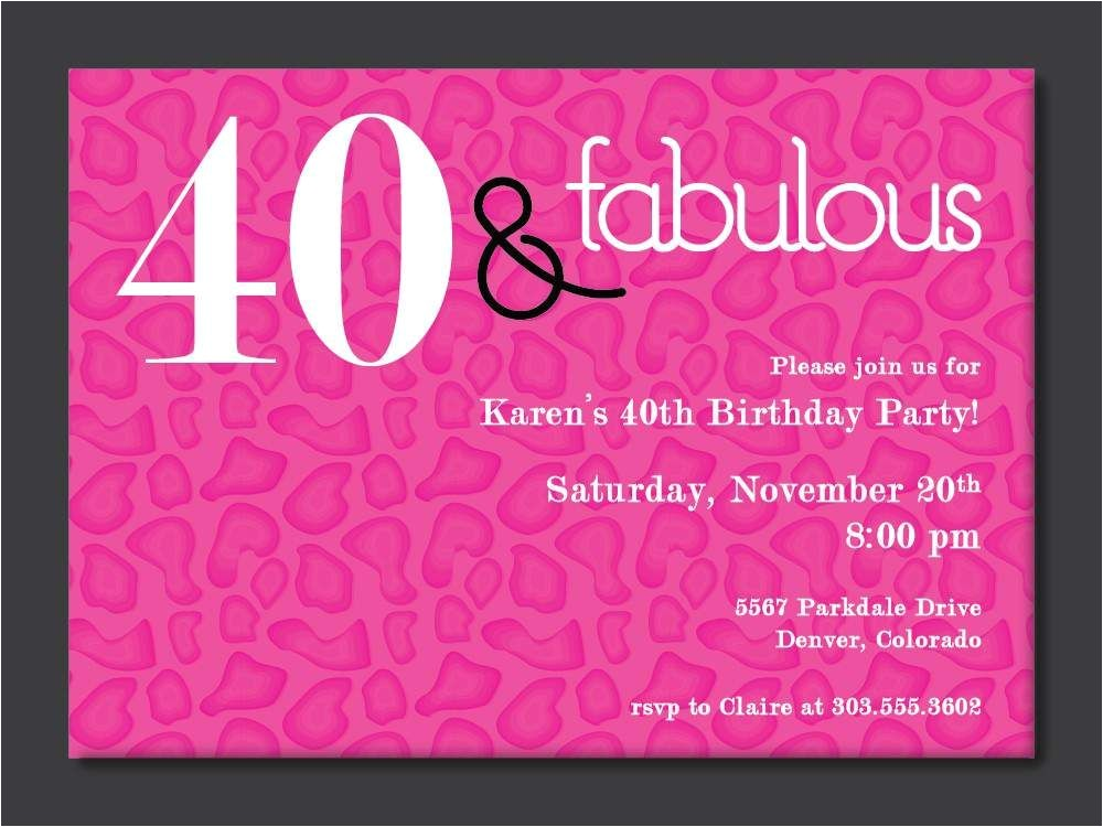 Free 40th Birthday Invitations Templates 40th Birthday Free Printable Invitation Template