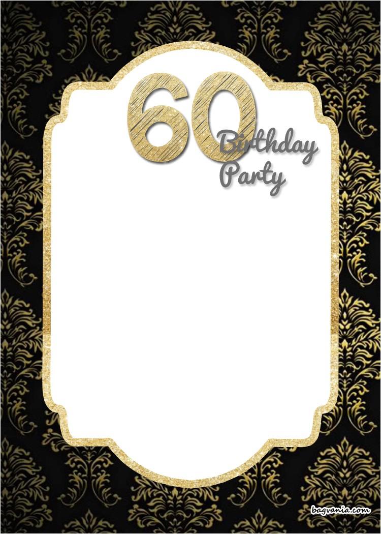 free printable 60th birthday invitation templates