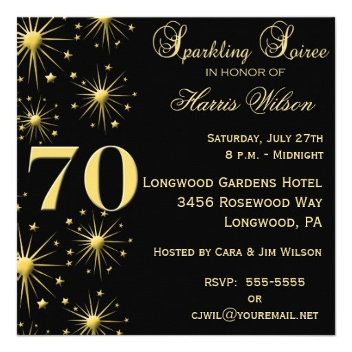 Free 70th Birthday Invitation Wording 70th Birthday Party Invitations Wording Free Invitation